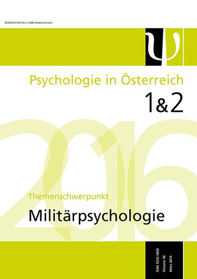 Psychologie in Österreich Magazin 1 & 2 2016